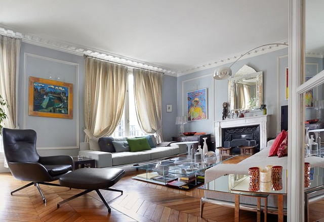 paris living room. Paris Apartment  16th Arrondissement contemporary living room Contemporary Living Room