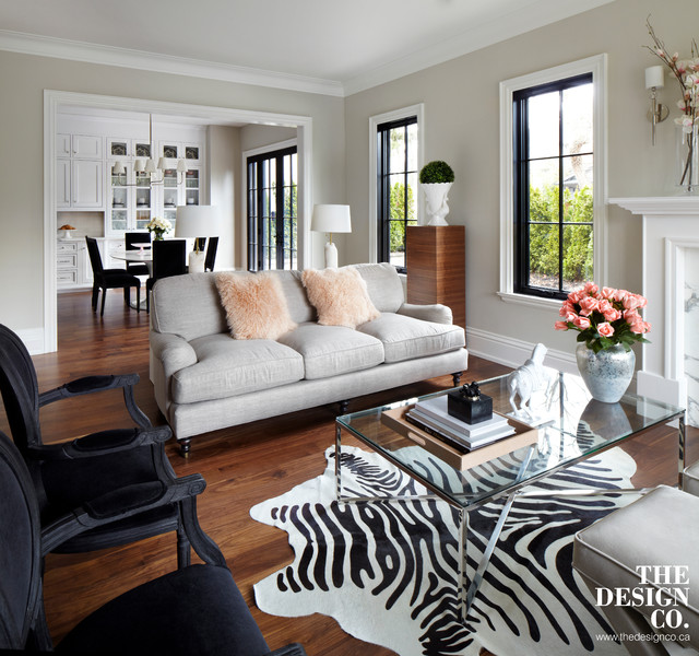 parisian chic transitional living room toronto by
