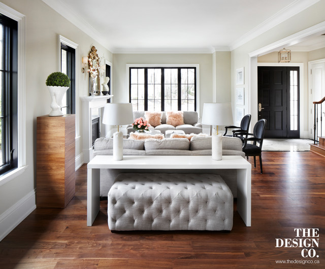 parisian chic - transitional - living room - toronto -the