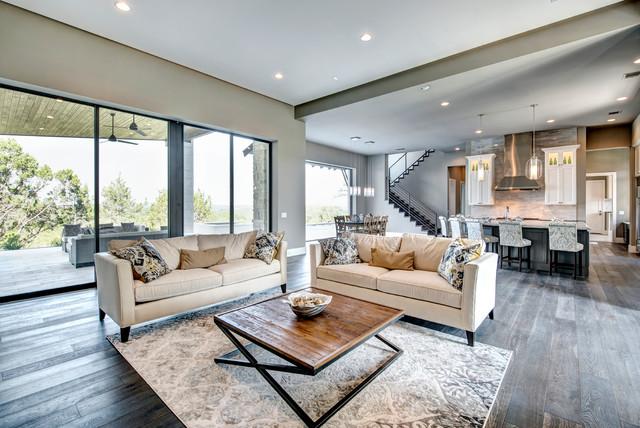 Parismina Transitional Living Room Austin By Bravo Interior
