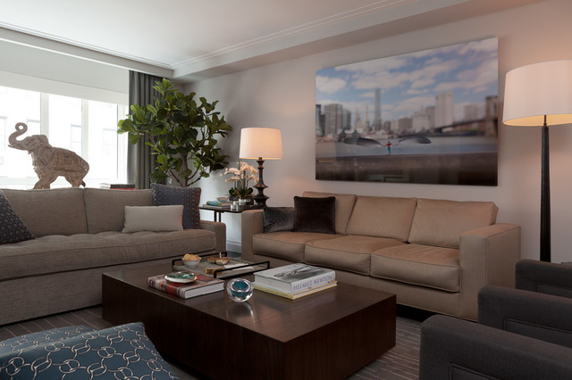 park avenue, nyc contemporary-living-room