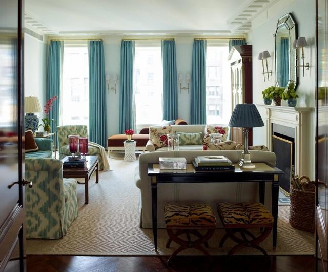 Park Avenue Apartment in Rosario Candela Building traditional-living-room