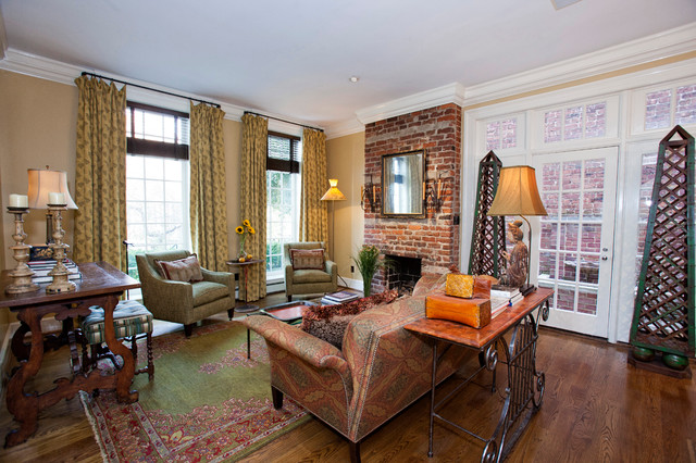 Park Avenue eclectic-living-room