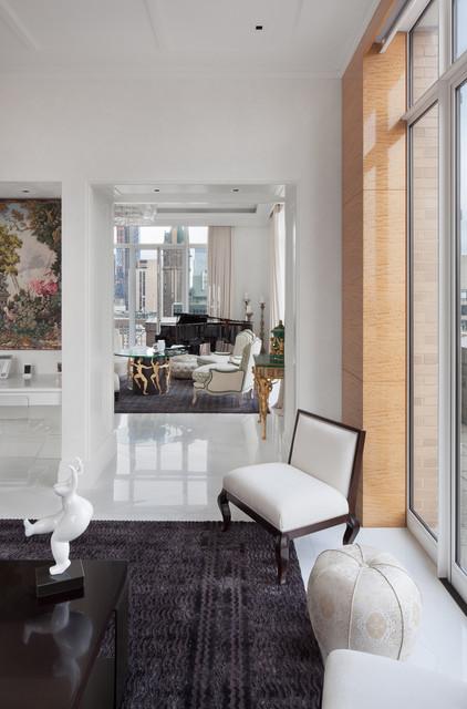 Park Avenue Duplex traditional-living-room