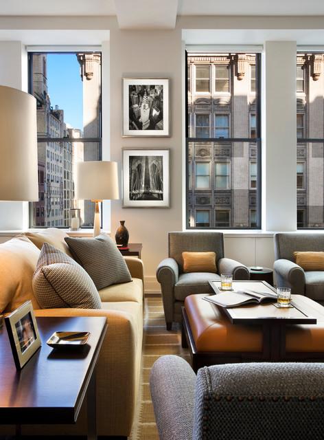 Park Avenue South contemporary-living-room