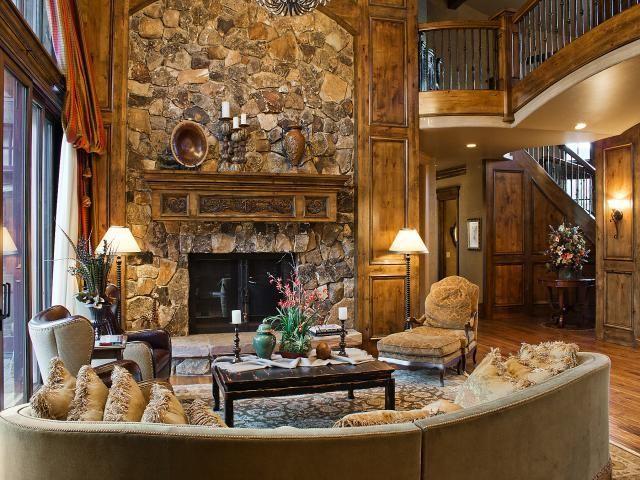 Living Room Furniture Utah park city quarry mountain home - contemporary - living room - salt