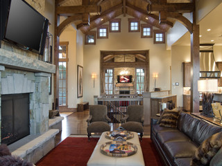 Park City Utah By Cameo Homes Inc Rustic Living Room