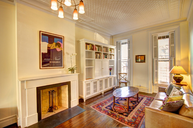 Park Slope Brownstone eclectic living room
