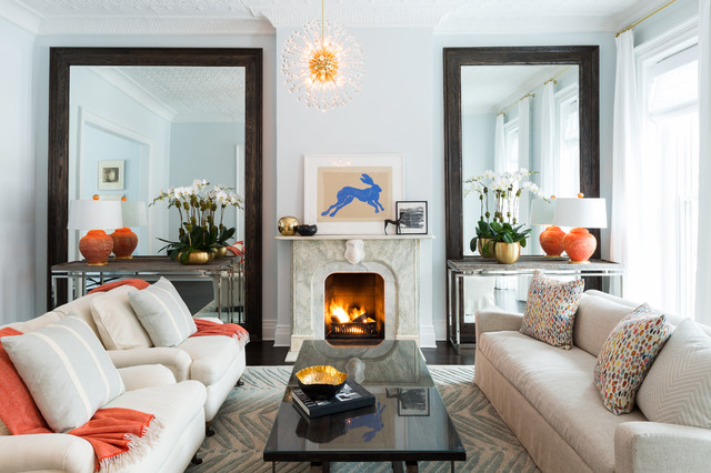 Brownstone Living Room | Houzz