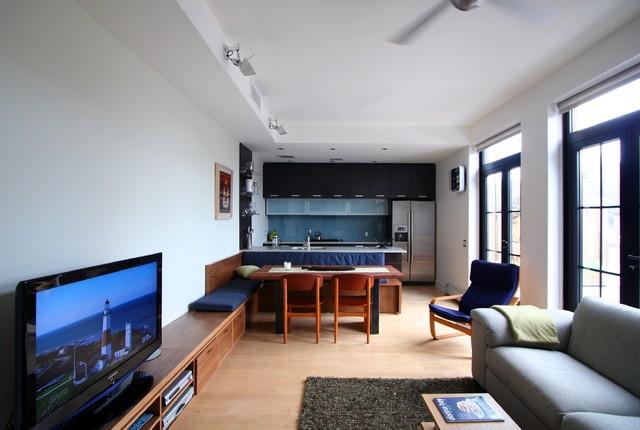 Park Slope Duplex modern-living-room