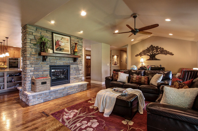 Parker Co Kitchen And Fireplace Remodel Traditional Living Room Denver By Capstone
