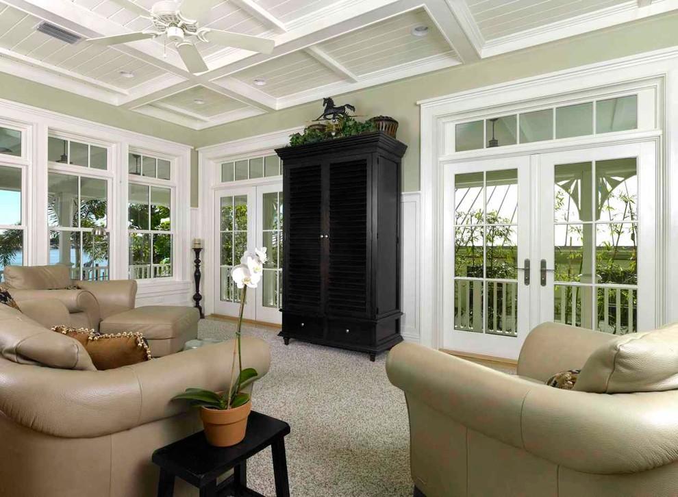 Elegant living room photo in Tampa
