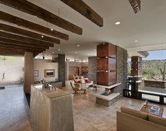 Pass Residence southwestern-living-room