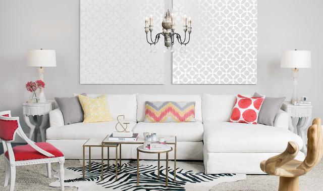 Pastel Palette Andre Slipcover Sofa Contemporary