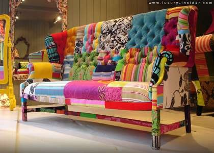 patchwork sofa eclectic living room