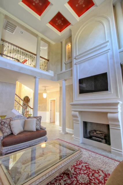 Patel Residence mediterranean-living-room