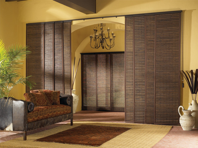 Patio Sliding Door Vertical Treatment Options Modern