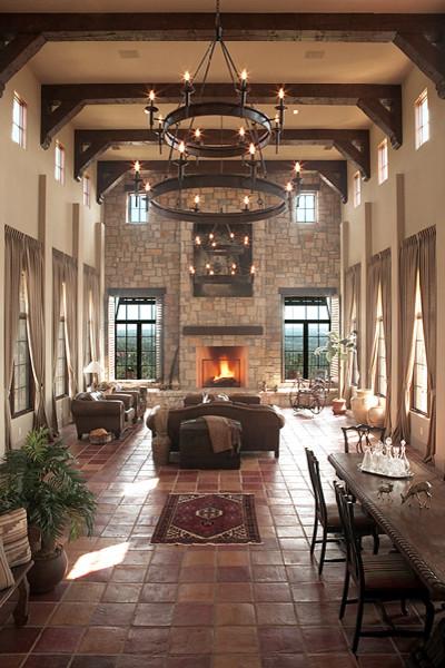 Patton Residence mediterranean-living-room