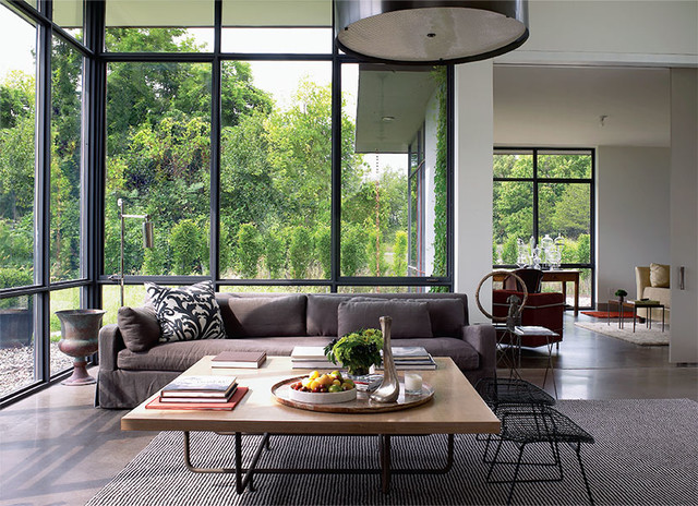 Interior Designers Decorators Paul Siskin Country Home Upstate NY Contemporary Living Room
