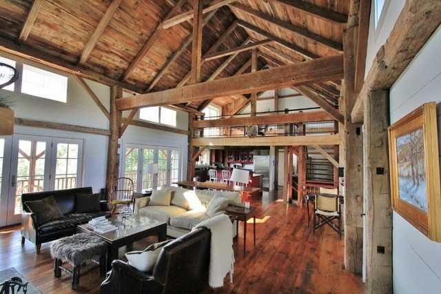 Pawlet Vermont Barn Home Traditional Living Room