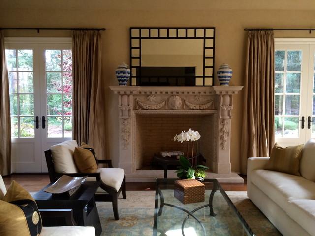 Peaceful atherton retreat asian living room san for Peaceful living room ideas