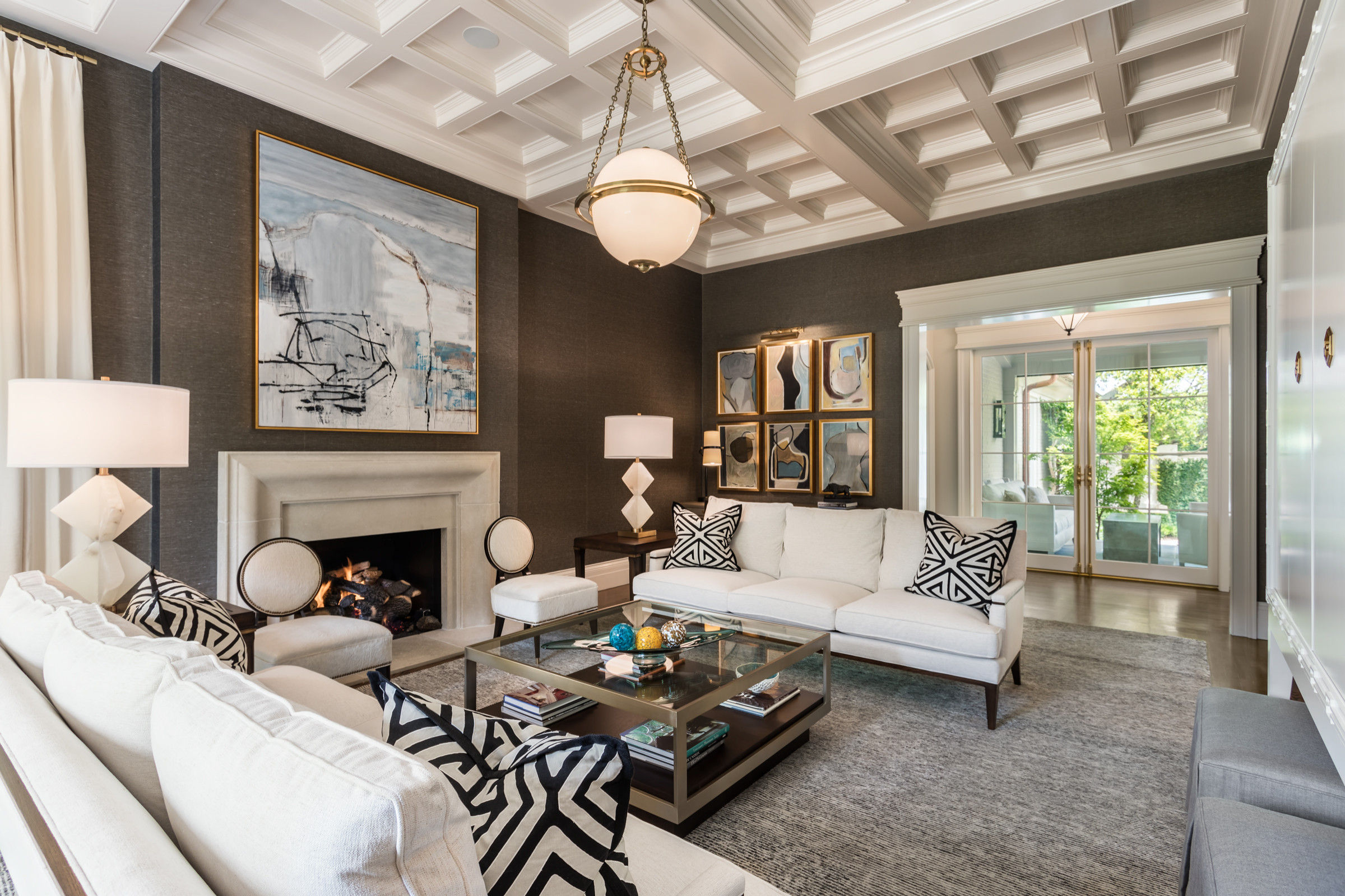 75 Beautiful Transitional Living Room With Brown Walls Pictures Ideas December 2020 Houzz