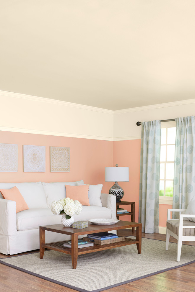 Peach And Gray Living Room Decor  from st.hzcdn.com