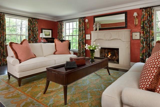 Peach Blossom traditional-living-room