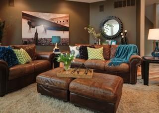 Peacock Inspired Themed Living Room