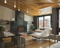Pearl District Loft Crane Building Penthouse contemporary-living-room