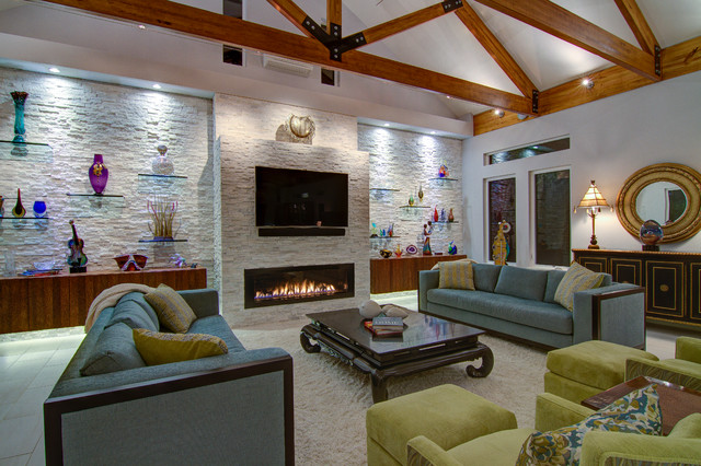 Pearl Contemporary Living Room Tampa By Josh Wynne