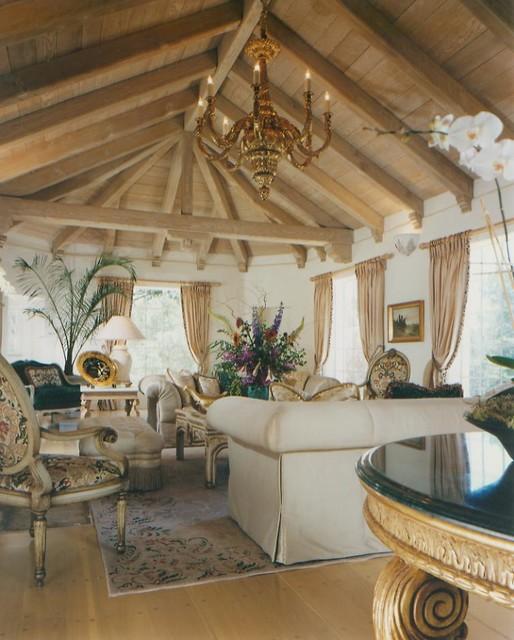 Pebble Beach Elegant mediterranean-living-room
