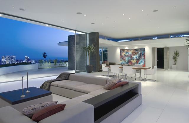 Pedram Residence modern-living-room