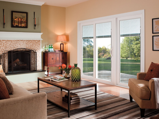 Pella® 350 Series Sliding Patio Doors Traditional Living Room Part 15