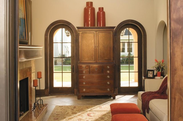 Pella® Architect Series® hinged patio doors complement the look of your home contemporary-living-room