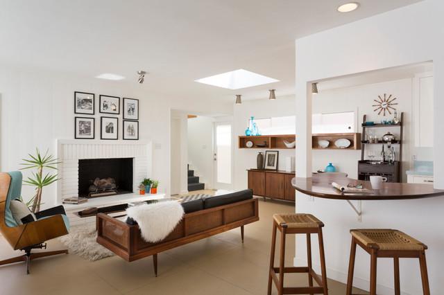 Mid Century Living Room penisula mid century modern