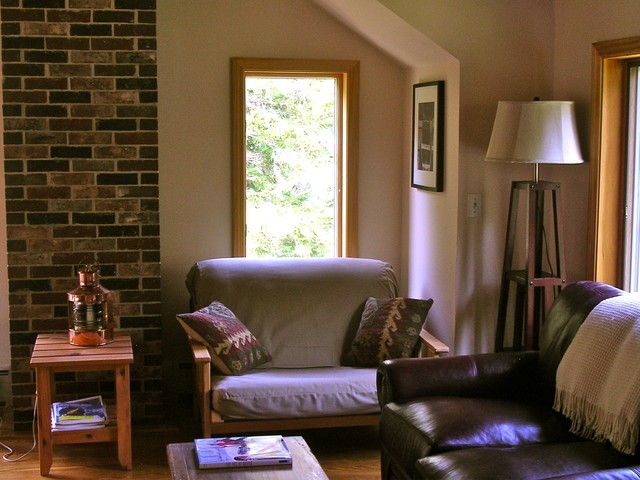 contemporary living room Penobscot Bay Cottage