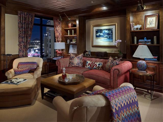 Penthouse Condominium contemporary-living-room