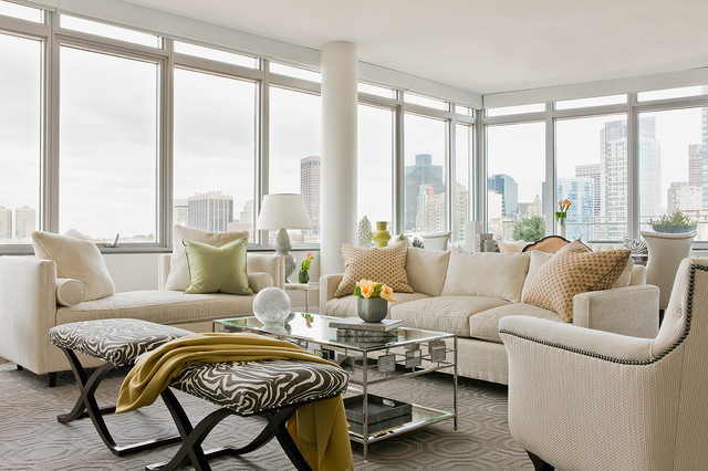 downtown boston transitional living room 62227