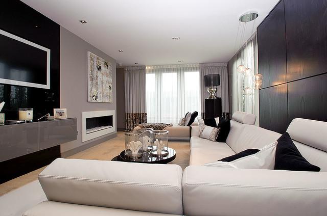 Penthouse edinburgh contemporary living room for Room interior design edinburgh