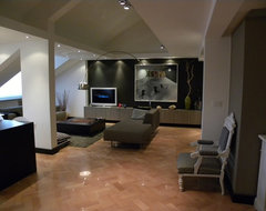 Penthouse in Belgrade contemporary-living-room