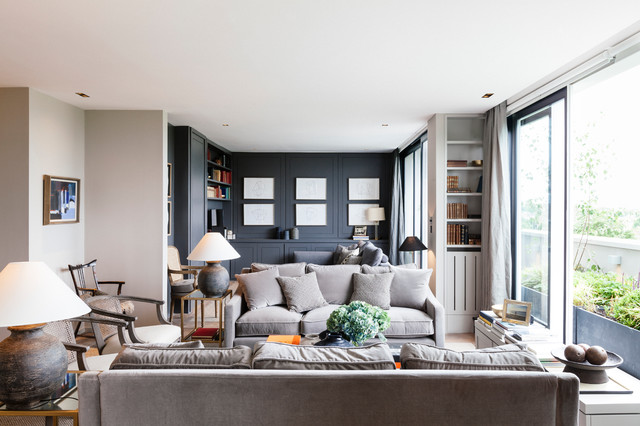 Penthouse Notting Hill Transitional Living Room