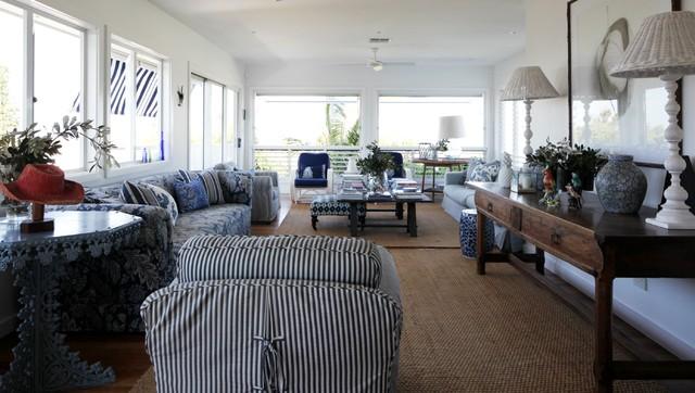 Peregian House beach-style-living-room