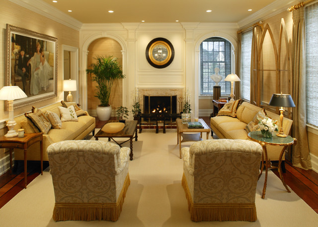 Period colonial home living room philadelphia by for Home decorating company