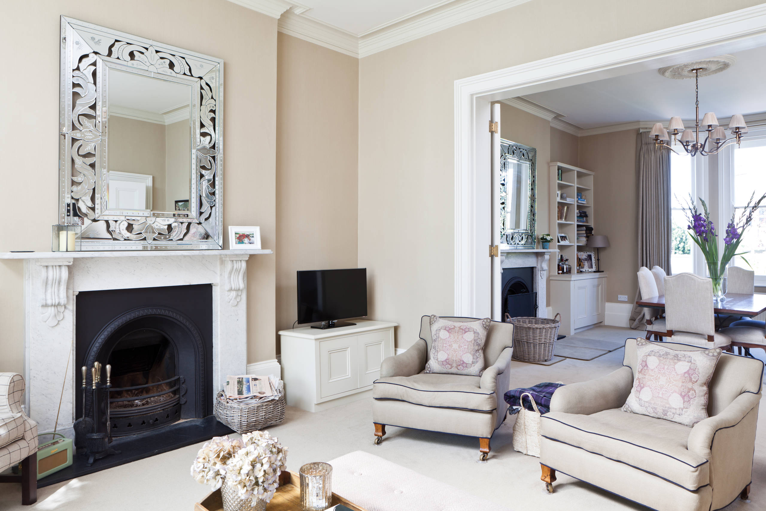 75 Beautiful Victorian Open Concept Living Room Pictures Ideas March 2021 Houzz