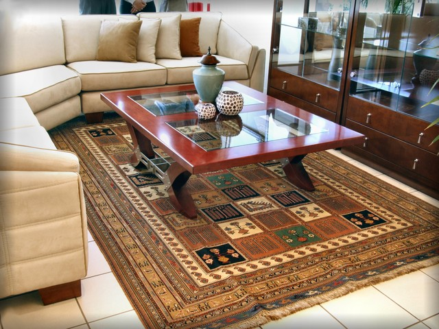 Persian carpet in modern contemporary home contemporary living