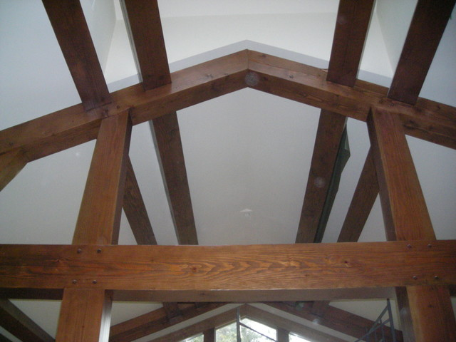 Persimmon Interior Trusses traditional-living-room