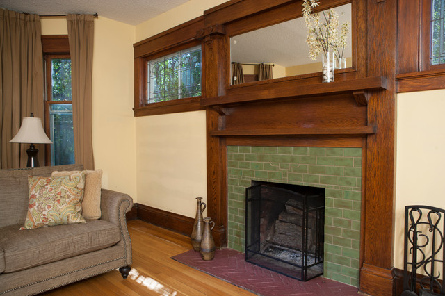 Pesto Arts & Crafts Fireplace - Traditional - Living Room ...