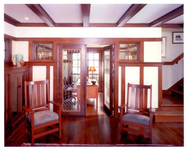 Living room - craftsman living room idea in Chicago