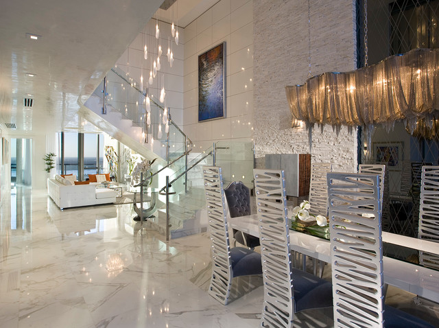 Pfuner Design Oceanfront Penthouse Contemporary Living Room Miami By Pfuner Design